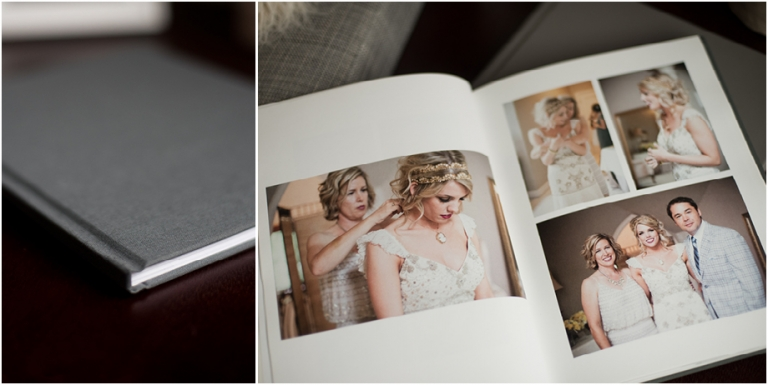 having your wedding photos printed laying out encourages you to flip through them more often than if they were stuck on your computer or on a disk